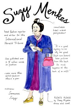 An Illustrated Guide To The Top Fashion Editors #refinery29