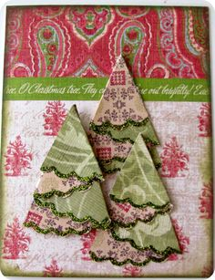 DIY Christmas Card, Paper trees, DIY Christmas Trees, Christmas Crafts