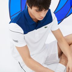A Lacoste Sport Tennis Polo Shirt crafted in run-resistant technical piqué. Developed by Lacoste for Novak Djokovic. Ideal for beginners and experts alike. Polo Shirt Outfits, Polo T Shirts, Nike Outfits, Polos Lacoste, Lacoste Sport, Tennis Tips, Sport Tennis, Nike Tenis, Indoor Tennis