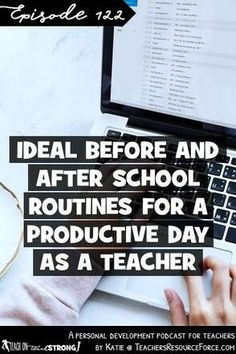 Ideal before and after school routines for a productive day as a teacher Free Teaching Resources, Teaching Strategies, Teaching Tips, Student Teaching, First Year Teachers, New Teachers, Elementary Teacher, After School Routine, School Routines
