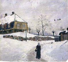 Edvard Munch - Øvre Foss in Winter, 1881-82.