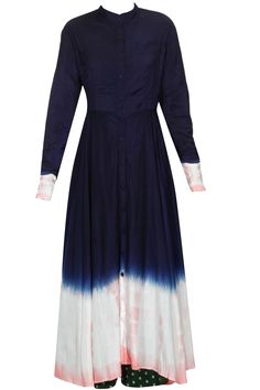 Navy resist dye effect crossover style dress available only at Pernia's Pop Up Shop.