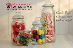 Maxwell & Williams Candy Store Canisters are back store. Available now at selected stores.