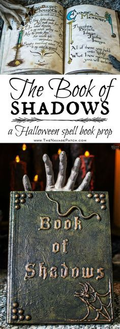 The Book of Shadows | DIY Halloween prop | Spells & Potions | DIY spell book | How to make realistic spell book for Halloween | TheNavagePatch.com