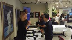 Business owners and city representatives discuss the benefits of certify as a MWBE. (Photo via El Diario)