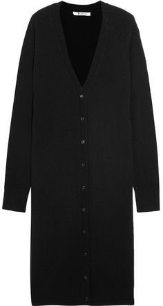 T by Alexander Wang - Wool And Cashmere-blend Cardigan - Black Black Cardigan, Alexander Wang, Cardigans, Cashmere, Sweaters For Women, Wool, Stylish, Fashion, Moda