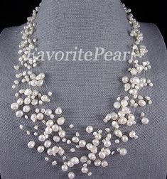 Pearl Necklace Bridesmaid Necklace by FavoriteJewellery on Etsy Wedding Accessories, Wedding Jewelry, Jewelry Accessories, Jewelry Design, Jewelry Ideas, Pearl Jewelry, Jewelry Necklaces, Pearl Bracelets, Pearl Rings