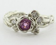 Pink Sapphire Rose Garden Ring Full Bloom by wexfordjewelers, $1167.00