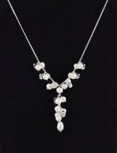 Bridal Wedding Jewelry Sterling Silver YNecklace by TamsyTrends, $80.00