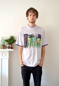 90s Vintage USA T shirt New Orleans Festival | Ica Vintage | ASOS Marketplace
