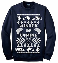 Winter Is Coming Ugly Game of Thrones Unisex Ugly Christmas Sweater   ca $19
