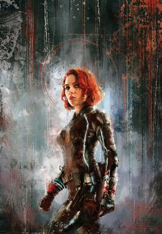 Portrait of Scarlett Johansson as 'Black Widow' (The Avengers) Marvel Comics, Marvel Heroes, Marvel Avengers, Marvel Fan Art, Marvel Girls, Scarlett Johansson, Black Widow Scarlett, Black Widow Natasha, Black Widow Marvel