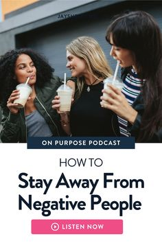 What to do when you are dealing with negative people. Jay Shetty shares tips and advice about decreasing the stress when not being able to stay away from people who bring negativity to our lives.  Learn how to spot the 4 types of negative personalities and how to be proactive and positive. I'm Jay Shetty - author, podcast host, former monk, and purpose coach. My vision is to make wisdom go viral in an accessible, relevant Negative People, Negative Thoughts, Feeling Rejected, Feeling Left Out, Removing Negative Energy, Think Deeply, Train Your Mind, Positive Motivation, Positive Inspiration