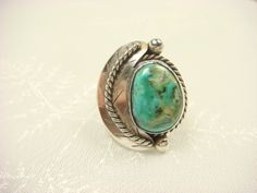 STUNNING Color Mix! ♥♥♥Turquoise Ring / Navajo Ring / Turquoise by ShinePrettyGems, $69.00