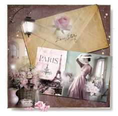 """Love letter from Paris"" by perla57 ❤ liked on Polyvore featuring art"