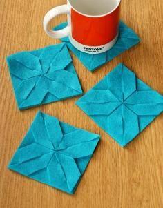 DIY Tutorial Crafting with Felts / DIY felt coaster - Bead&Cord