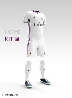 I designed football kits for Real Madrid CF for the upcoming season 16/17.