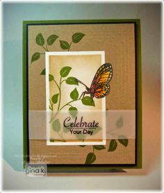 Sweet Butterfly Card Making Video and Tutorial - Crafting The Web