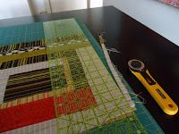 The Quilting Edge: Tutorials         QAYG #3 Squaring up the blocks