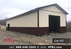 W x L x H (ID# Upper Color: Beige Lower Color: Burgundy Roofing Color: Burgundy Trim Color: Burgundy x Residential Classic Raised Short Panel Insulated Garage Door Garage Door Insulation, Garage Doors, Pole Buildings, Metal Siding, Garage Design, Trim Color, 4 H, Garages, Shed