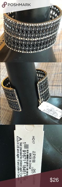 a24cd1965509 ☘️NWT Lucky Brand rhinestone cuff ☘️NWT Lucky Brand rhinestone cuff 1 3 4