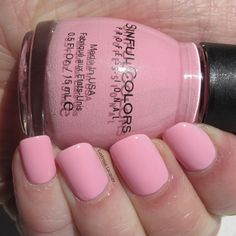 Pink Smart.  This little cutie is a light  to medium pink shade and covers well in two coats. creme finish