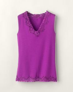 Double lace tank