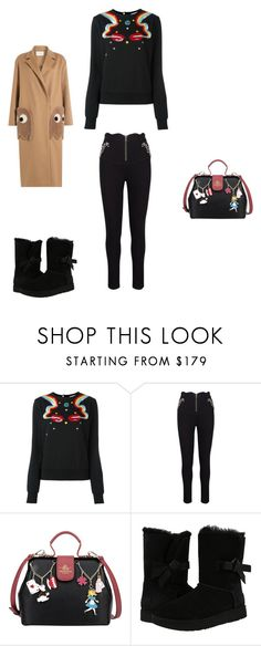 """""""Untitled #8737"""" by explorer-14576312872 ❤ liked on Polyvore featuring Olympia Le-Tan, UGG and Anya Hindmarch"""
