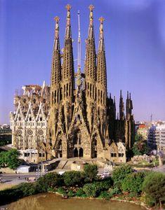 La Sagrada Familia, Barcelona, Spain - Antonio Gaudi: This building sat unfinished for decades...until they restarted in the 1990's