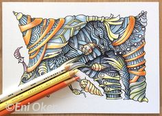Learn to create vibrant color shading on zentangle and patterns • enioken.com