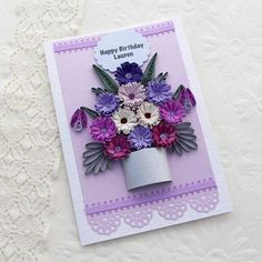 Paper Quilling Card Paper Quilled by EnchantedQuilling on Etsy