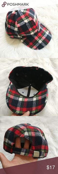 New Cara New York plaid pony cap Hat is new without tag. Plaid red pony cap. Size: one There is brown color in my closet too. Accessories Hats