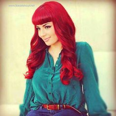 PRAVANA ChromaSilk VIVIDS on the lovely Sara Ashouri    I get this color by using Ion Color Brilliance and then layering it over with Revlon Red highlights, personally...---Pika