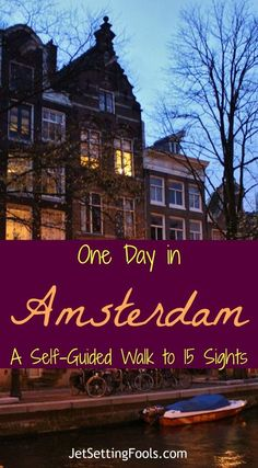 One day in Amsterdam Self-Guided Walking Tour: 15 sights to see As slow travelers, we often spend weeks in cities that many travelers only give a day or two. Only on rare occasions do we limit ourselves to a single day in a city and that only happens when Backpacking Europe, Europe Travel Guide, Travel Packing, Packing Tips, Solo Travel, Travel Guides, Travel Destinations, Traveling Tips, Travel Usa