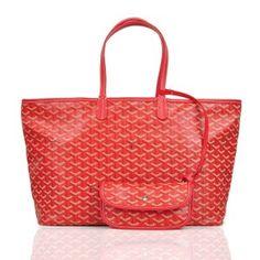 Sac Goyard St. Louis GY308 Rouge 1.Marque  : goyard 2.Style  : Goyard St. Louis 3.couleurs :Rouge 4.Matériel :PVC avec cuir 5.Taille: L40 x H30x W15 cm