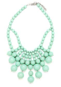 Bauble Necklace  Beaded Necklace  Mint by ShamelesslySparkly, $9.90