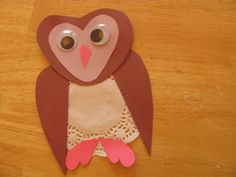 Valentine's Day Owl Craft, I know a doily loving preschool teacher who might like this