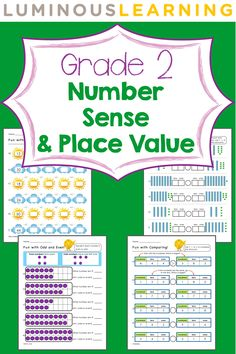 Luminous Learning Grade 2 Number Sense and Place Value workbook helps build confidence with: *counting and skip counting *place value *comparing and ordering numbers *odd vs even numbers *writing numbers in words and symbols Phd In Education, Special Education, Second Grade Math, Grade 2, Place Value Worksheets, Math Workbook, Elementary Math, Kindergarten Math, Primary Maths