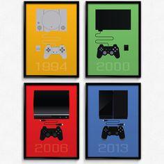 PlayStation Inspired Minimalist PlayStation by PrinsDesignStudio