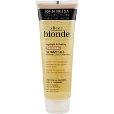 John Frieda sheer blonde shampoo--really works to bring out the blonde highlights, I also like their go blonde products