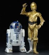 Pack 2 estatuas Star Wars. R2-D2 y C3PO, ARTFX 17cm