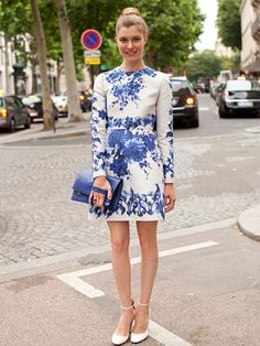 Fall 2013 Couture Week Street Style: Show attendee, wearing Valentino
