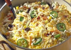 Chile-Corn Casserole.  Haven't tried it yet, but rest assured, I will...