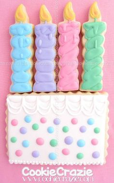 Cookie Birthday Candles & Cake