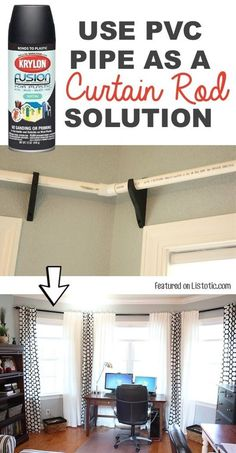 PVC Pipes As Curtain Rod