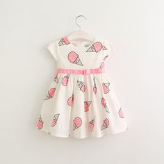 Cheap kids dresses for girls, Buy Quality dresses for girls directly from China kids dress Suppliers: Hurave Sweet Girls ice cream printed kids dress for girl 2017 cute girls spring new children princess clothes dress Baby Summer Dresses, Cute Girl Dresses, Little Girl Dresses, Baby Dress, Dress Summer, Pink Summer, Dress Girl, Summer Baby, 2017 Summer