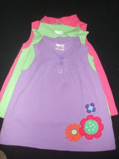 Hanna Andersson Tops Pink Green Purple Tops Girls US Size 7-10/ Euro Size 130