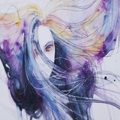 Agnes Cecile I think this girl is turning me onto water color