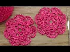 Как связать ЦВЕТОК крючком - вязание крючком - Crochet 3D Flower Pattern - YouTube