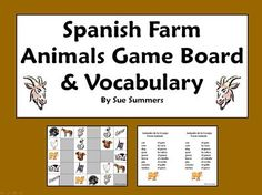 Spanish+Farm+Animals+Board+Game+from+Sue+Summers+on+TeachersNotebook.com+-++(3+pages)++-+Spanish+Farm+Animals+Board+Game
